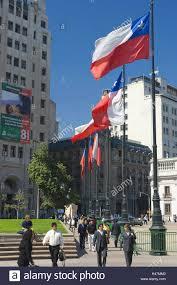Chile Santiago Flag South America Chile Santiago De Chile Plaza De La Constitucion