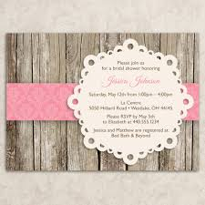 rustic bridal shower invitation vintage bridal shower invite