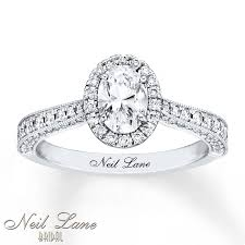 oval cut engagement rings neil engagement ring 1 3 8 ct tw oval cut 14k white gold