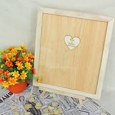 heart guest book wedding guest book personalized wooden hearts guest book