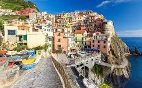 Italy Houses Wallpapers Italy Manarola Crag Boats Cities Houses