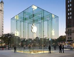 glass entrance architecture imanada new chicago apple flagship in
