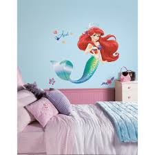 roommates 5 in x 19 in the little mermaid peel and stick giant the little mermaid peel and stick giant wall decals
