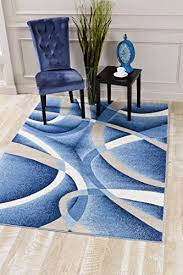 Modern Abstract Rugs Blue Rug