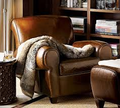 Pottery Barn Leather Chair Manhattan Club Chair From Pottery Barn