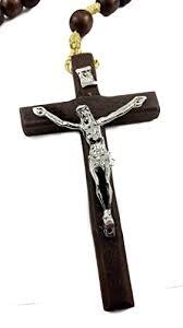 catholic necklace large wall rosary wood catholic necklace metal jesus