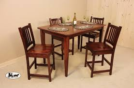 Round Kitchen Table Sets For 6 by Amish And Adirondack Pub Sets Gathering Tables New York