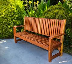 wood bench with wave design seat slats forever redwood