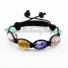 murano glass beads bracelet images Macrame foil swirled lampwork murano glass beads bracelets jewelry jpg