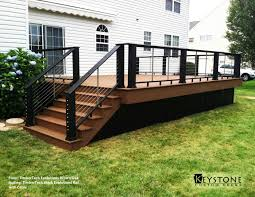 timbertech evolutions brown oak decking with timbertech black