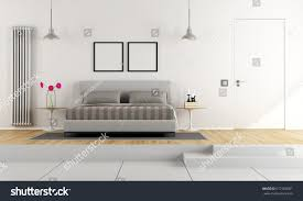 two levels master bedroom double bed stock illustration 617168081