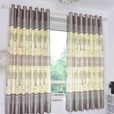 Pictures Of Window Curtains Purple Tree Print Poly Cotton Blend Country Curtains For Bay
