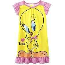 looney tunes girls u0027 toddler tweety bird nightgown walmart