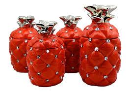 pineapple tea coffee sugar biscuit cookie jar canister jars