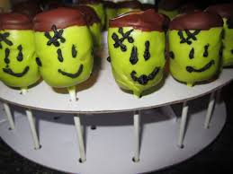 Halloween Themed Cake Pops by Chelsea U0027s Frankenstein Cake Pops