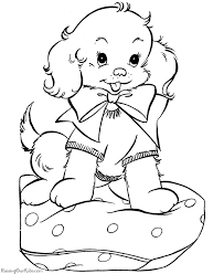 puppy christmas coloring pages