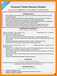 Sample Fitness Instructor Resume 100 Sample Personal Trainer Resume Pay To Write Cheap