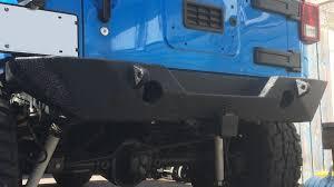 linex jeep blue poison spyder jeep jk rockbrawler rear bumper install youtube