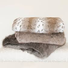 Faux Fur Bed Throw Faux Fur Bed Runners And Throws By The Fine Cotton Company