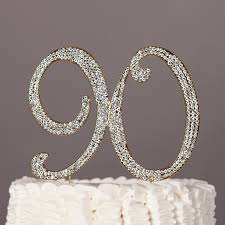 amazon com 90 cake topper for 90th birthday rhinestone number