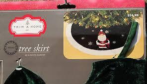 Tree Skirts On Sale Kmart Tree Skirt Trim A Home Santa Green W White Trim 48 New