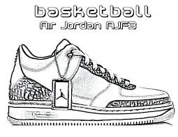 marvelous outstanding jordan shoes coloring sheets new basketball