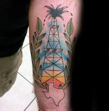Texas travel tattoos images 40 oilfield tattoos for men oil worker ink design ideas jpg