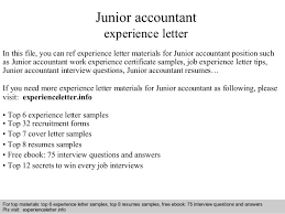 junior accountant jobs 18 2 experience letter sample 1 for junior
