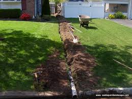 backyard drain garden design