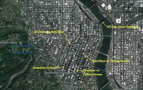 Portland Bus Map by Blue Line Let U0027s Go La