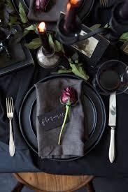 Elegant Halloween Wedding Ideas by Halloween Table Settings Halloween Tablescape Idea Elegant Or