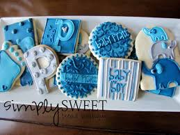 simplysweet treat boutique elephant baby shower decorated cookies