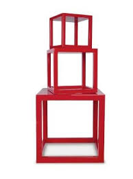 furniture high low red nightstands remodelista