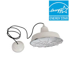 home depot led pendant lights commercial electric 1 light white led utility pendant 8180 the