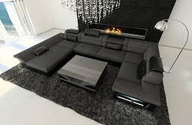 sofa stoffe kaufen stoff leder wohnlandschaft enzo u form grau de küche