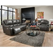Power Leather Reclining Sofa by 745 Montana Leather Collection Power Standard Franklin