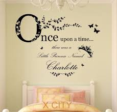 online get cheap princess wall decal aliexpress com alibaba group once upon a time princess children girl personalised name vinyl wall decal art decor sticker kids