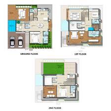 triplex plans vishal sanjivini by vishal project limited 4 bhk villas in orr