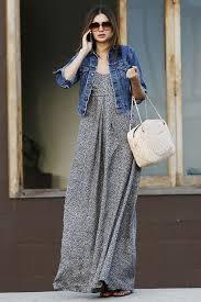 maxi dress with denim jacket all women dresses