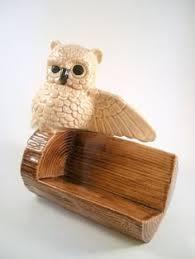 Vintage Business Card Case Vintage Ceramic Owl Business Card Holder 32 00 Via Etsy My