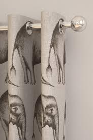 Elephant Curtains Uk Savanna Elephant Grey Pencil Pleat Curtains By Harlequin Brewers