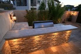 Outdoor Kitchen Lighting Innovative Ideas Stone Outdoor Kitchen Interesting Outdoor