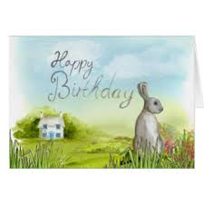 a happy birthday rabbit cards greeting photo cards zazzle