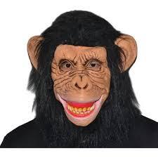 Gorilla Halloween Costume Latex Chimp Mask Halloween Costume Accessory Walmart