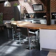 table de cuisine sur mesure plan de travail épais flip design boisflip design bois