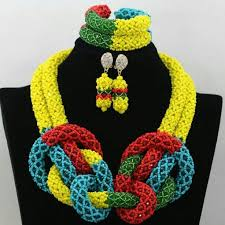 african beads necklace sets images Fashion nigerian beads necklaces bracelet earrings african beads jpg