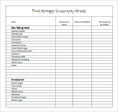 Restaurant Inventory Spreadsheet by Sle Restaurant Inventory 6 Documents In Pdf