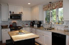 White Kitchen Cabinets With Black Island White Kitchen Cabinets Colors Black Stained Wooden Island Set