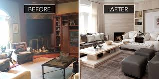 home design before and after living room and family room ideas family room before