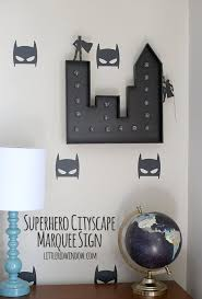 make your own light up sign make your own light up superhero cityscape marquee sign your